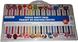 Creatology 48 Piece Pencil Party Pack! Includes 12 Colored Pencils, 12 No 2 Pencils, And 24 Fun Shaped Erasers! Perfect Back To School Item! Makes A Great Gift For An Artist!