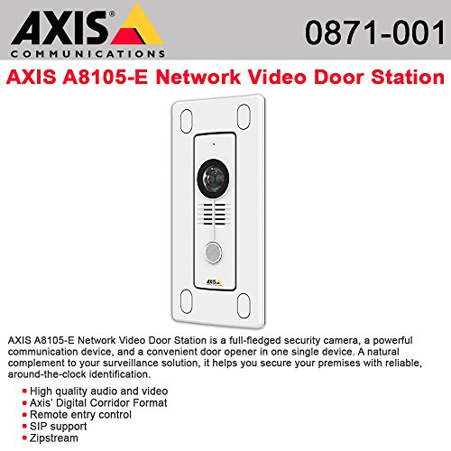 (AXIS A8105-E (0871-001) Network Video Door Station HDTV 1080p resolution)