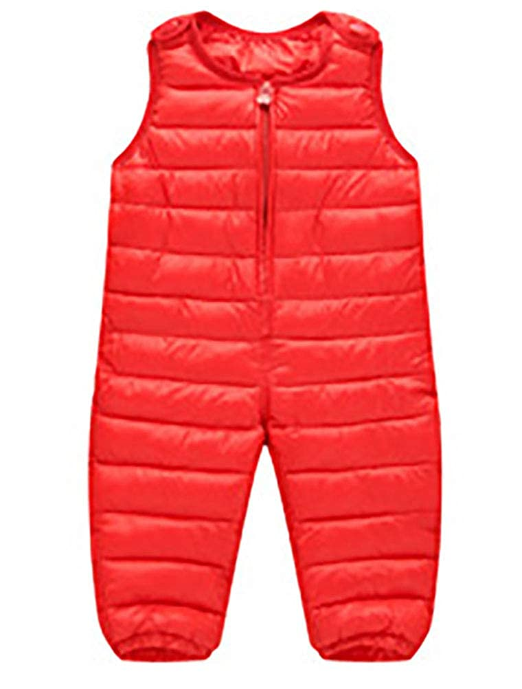 ARAUS Baby Winter Overall Pants Girl Boy Down Padded Suspender Trousers Warm Dungarees 0-4 Years