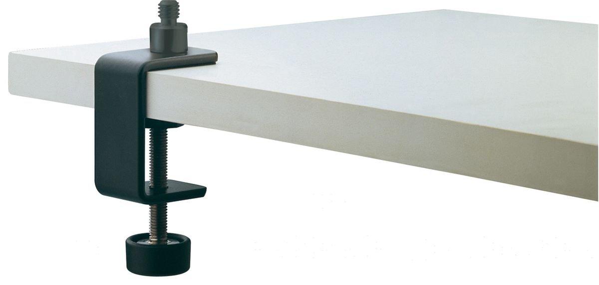 Konig & Meyer 23700-300-55 - Morsetto da tavolo da 45 mm, con filettatura da 3/8'', colore nero