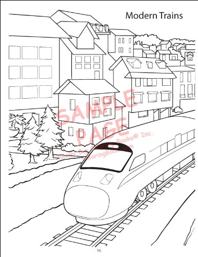 Trains Coloring Book 8 5x11 Coloringbook Com Really Big Coloring