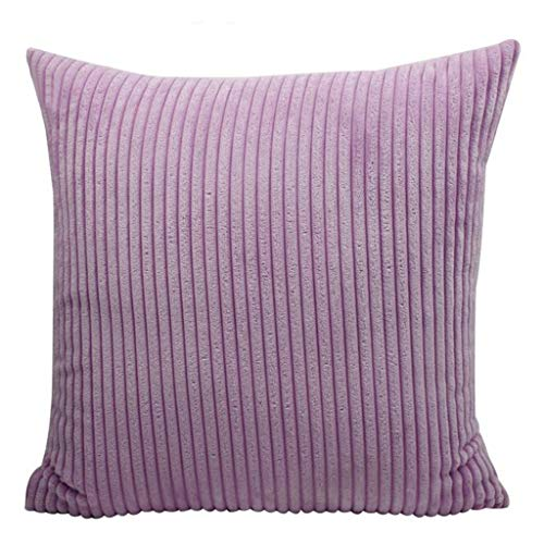 AHAYAKU Corduroy Solid Color Pillowcase Nordic Wind Sofa Pillowcase Household Items Pink Purple