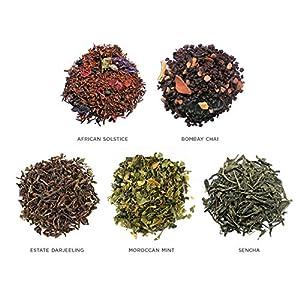 Tea Forté WORLD OF TEAS Single Steeps Loose Leaf Tea Sampler, 15 Single Serve Pouches - Green Tea, Herbal Tea, Black Tea, Chai Tea