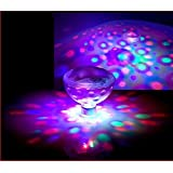 RGB Glow Light, DLAND 5 Light Patterns Color Changing Colorful Bathroom LED Disco AquaGlow Light waterproof in tub Pond Pool Spa Hot Tub Bathtub Floating Lamp