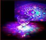 RGB Glow Light, DLAND 5 Light Patterns Color Changing Colorful Bathroom LED Disco AquaGlow Light waterproof in tub Pond Pool Spa Hot Tub Bathtub Floating Lamp
