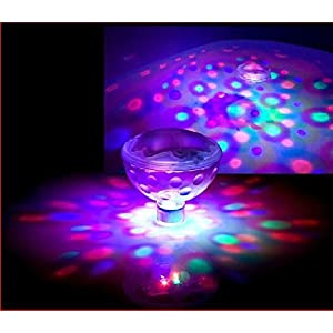 RGB Glow Light, MAXIN 5 Light Patterns Color Changing Colorful Bathroom LED Disco AquaGlow Light Waterproof in tub Pond…