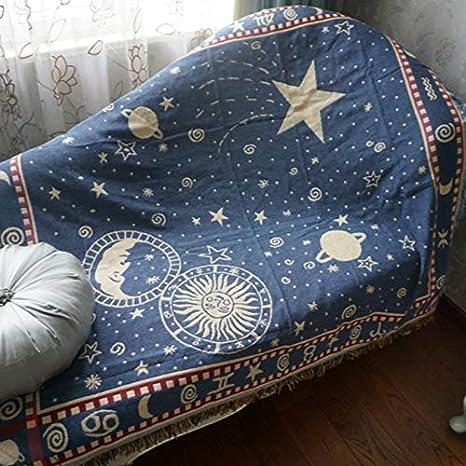 JINSH Home Manta de algodón de la Estrella Doble Manta de la decoración de la Sala de Estar sofá Alfombra cojín de Tela (Size : 170x220cm)