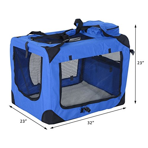 Pet Dog Carrier Soft Portable Travel Crate Cage Cat Foldable 32