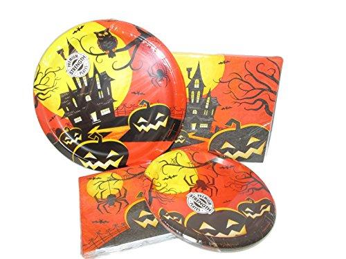 Haunted Night Halloween Party Paper Goods Bundle (Halloween Party City)