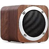 Bluetooth Lautsprecher Holz, 6W tragbarer Bluetooth 4.0 Lautsprecher mit 10 Stunden Laufzeit, kabellose Computer Lautsprecher mit verbessertem Bass Resonator.