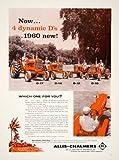 1960 Ad Allis-Chalmers D-17 D-14 D-12 Red Tractors Farming Bermuda Hydraulic - Original Print Ad