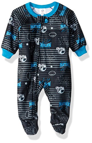NFL Carolina Panthers Unisex-Baby Blanket Sleeper, Panthers, 6 Months
