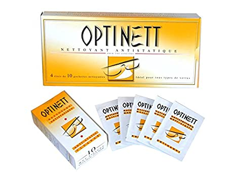 85b225d9fbd9f Kit d entretien OPTINETT 40 Lingettes nettoyantes  Amazon.fr ...