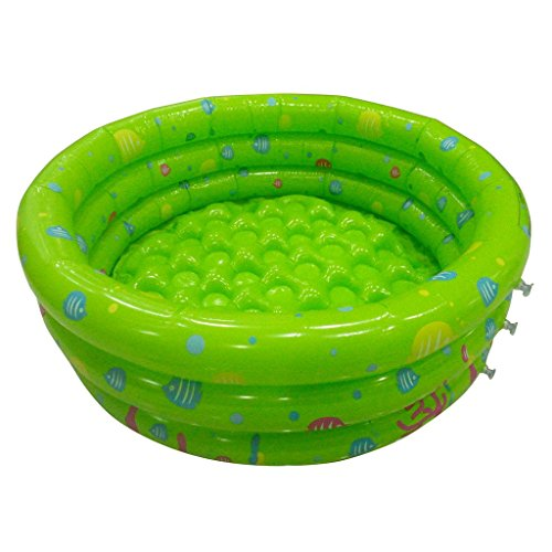 TrendBox Green 80cm Inflatable Round Swimming Pool Ball Pit For Baby Children Kids Outdoor Indoor Activities Garden Parties (Ship From USA) - Individual Pool Balls