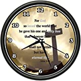 JOHN 3:16 Wall Clock god so loved the world that he gave his one and only son