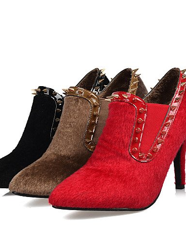Eu37 Cn39 Cn37 us6 5 A Uk4 Y Piel Botas Mujer Eu39 Xzz 5 Tacón Brown Moda Noche Rojo Vestido Black Uk6 7 Marrón Stiletto Fiesta La us8 Negro De Zapatos 5 xAqAgF1