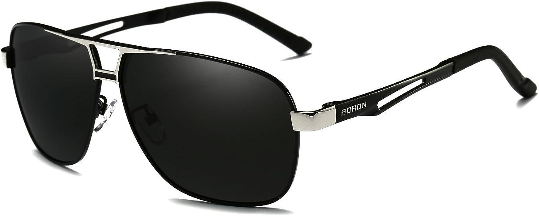 26f93a57e2 AORON Polarisierte Herren Sonnenbrille Polarisierte Outdoor Sportbrille  100% UV400 Schutz Fahren Sonnenbrille (Schwarz)