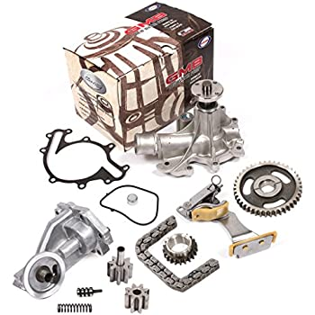 Fits 97-08 Ford 4.2 OHV 12V VIN 2 Timing Chain Kit Oil Pump GMB Water Pump