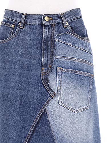 S2285050IB5400 Femme Jupe Coton Loewe Bleu aYqw8zp