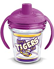 Tervis 1292275 NCAA Lsu Tigers Born A Fan Sippy Cup With Lid, 6 oz, Clear