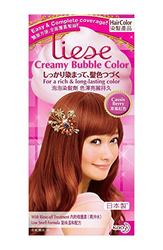 Hair Foaming Jelly (KAO Liese Soft Bubble Hair Color (Cassis Berry) by Liese)