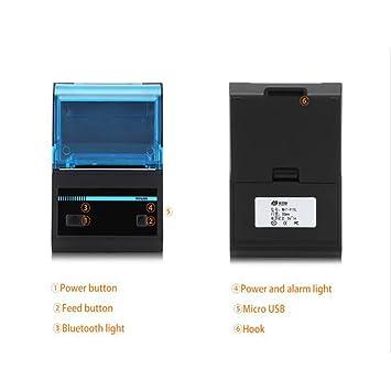 LSQ Recibos térmicos Bluetooth 48mm Impresora Bill Máquina de ...