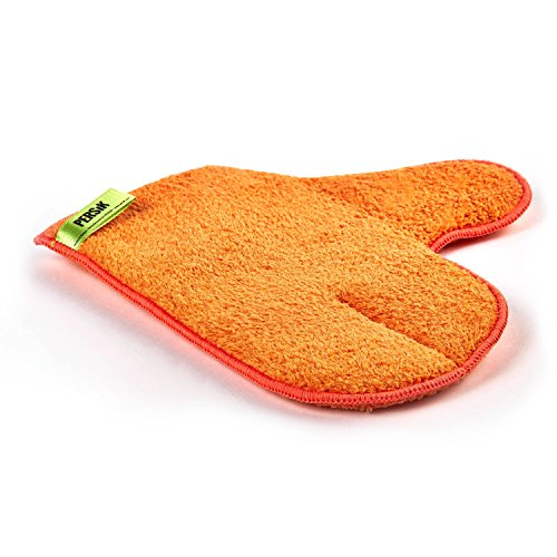 Pure-Sky Magic Microfiber Dusting MITT – Ultra Microfiber Cleaning Cloth Glove – JUST ADD Water No Detergents Needed – Use for Cleaning Furniture, Home Appliances, Screens, Electronics