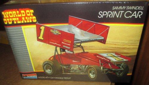 #2751 Monogram World of Outlaws Sammy Swindell Sprint Car 1/24 Scale Plastic Model Kit,Needs Assembly