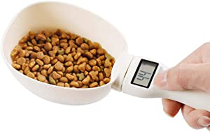 CHDHALTD Precise Pet Food Scoop,Pet Food Measuring Scoop with LED Display,Dog Cat Food Detachable Digital Spoon Kitchen Baking Scale Handled Coffee Bake Measuring Cups