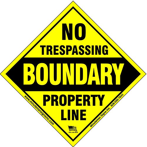 Review Minuteman Signs No Trespassing Diamond Aluminum x10 Pack (Boundary)
