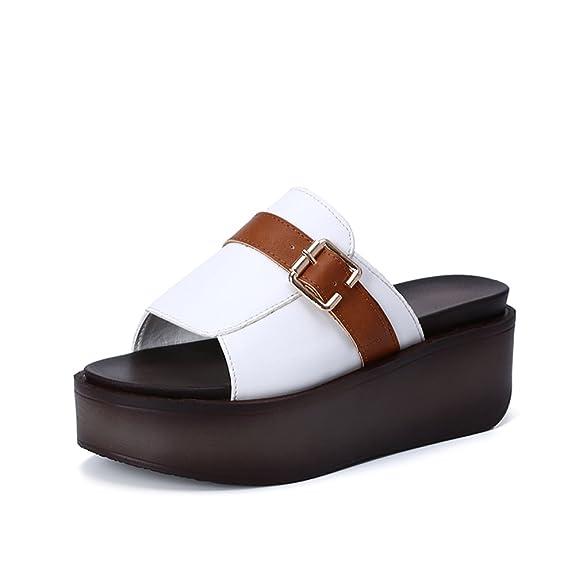 check out b1903 be968 Pantoffeln Koreanische Version Des Sommers Tragen Wilde Flache Untere Dicke  Mode Sandalen Studenten Flut Schuhe... - associate-degree.de