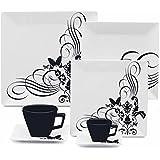 Jogo De Jantar Chá E Café 42 Peças Quartier Tattoo Gm42-2414 Oxford