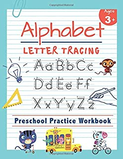 alphabet letter tracing preschool practice workbook learn to trace letters and sight words