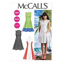 McCall Pattern Company M6741 Misses'/Women's Petite Lined Dresses Sewing Template, Size B5 (8-10-12-14-16)