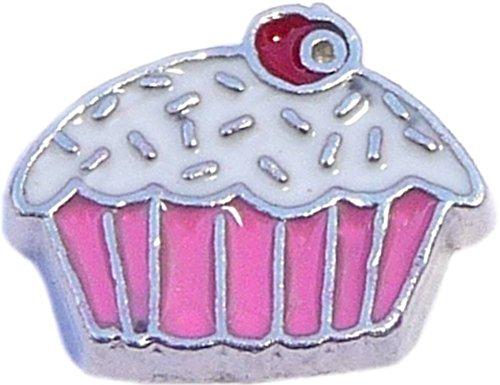 Pink Cupcake Floating Locket Charm ()