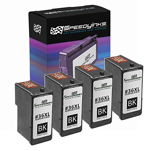 Speedy Inks Remanufactured Ink Cartridge Replacement for Lexmark 36XL High-Yield (Black, 4-Pack)