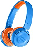 JBL JBLJR300BTUNO Cuffie Wireless, Blu (Rocker Blue)