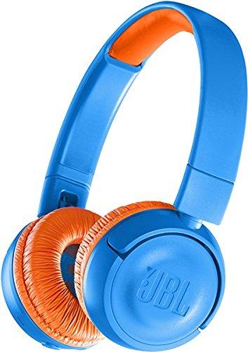 JBL JR300BT - Auriculares supraaurales con Bluetooth para niños, Color Azul