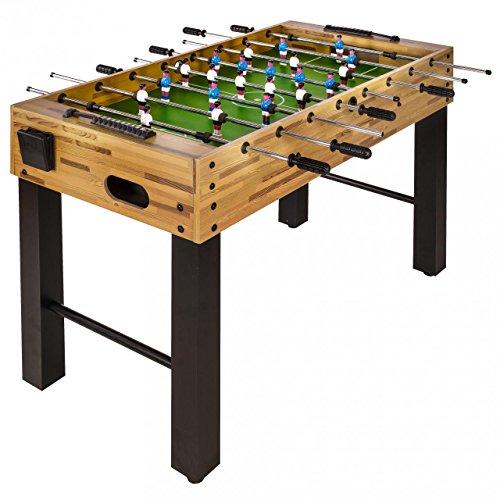 Kinetic Sports Tischkicker Fußball, inkl. 2 Getränkehalter, Justierbare Standfüße, 121 x 61 x 79 cm, Buchenoptik