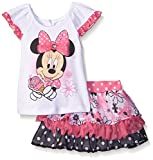Disney Baby Girls' 2 Piece Minnie Ice Cream Scooter Set, White, 24 Months