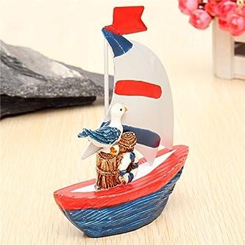 Amazon com: New Nautical Decor Mini Wooden Craft Sailing