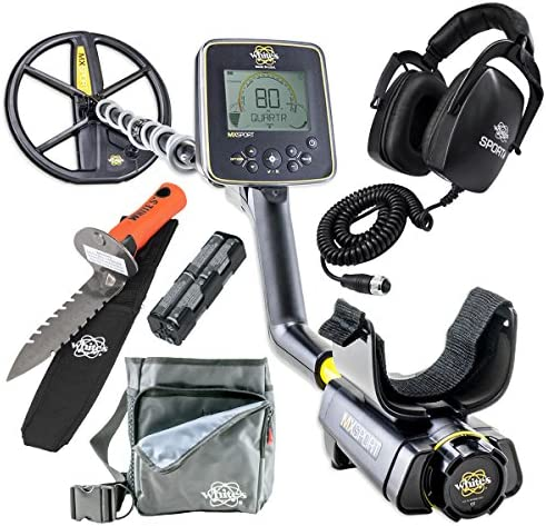 Whites MX Sport Waterproof Detector Diggers Special w DigMaster Utility Pouch