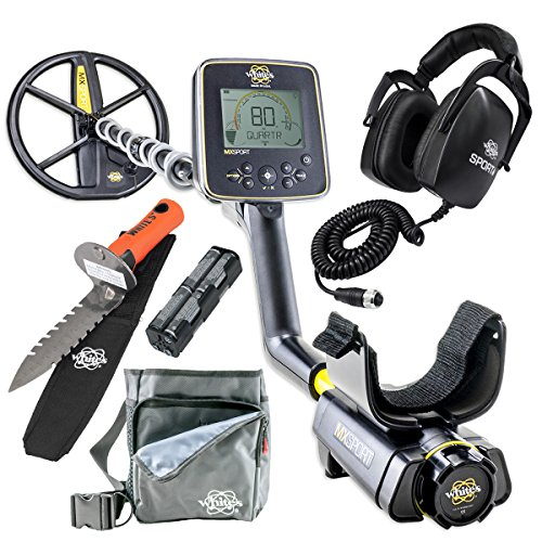 Whites MX Sport Waterproof Detector Diggers Special w/ DigMaster & Utility Pouch by White's Electronics
