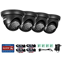 Annke 4-Packed 720P HD-TVI CCTV Security Camera Kit with IP66 Weatherproof ,Colorful Night Vision With IR Cut Filter Infrared IR Lens
