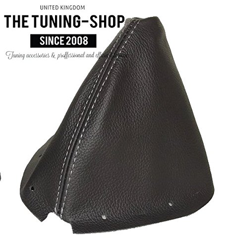 - The Tuning-Shop Ltd for Infiniti G35 Coupe 2002-2007 Shift Boot Black Genuine Leather Grey Stitching
