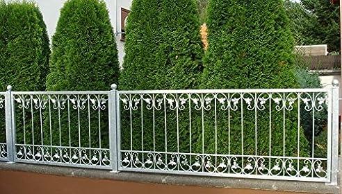 Schmiedeeisen Eisenzaun Zaun Metall Gartenzaun Zäune Monaco-Z120