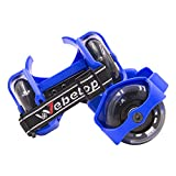 Webetop Kids Lighted Heel Skate Rollers Adjustable Two Wheels Skate Shoes Scooters,one Size Fits Most,60kg Weight Limited,with Portable Bag And Mini Wrench For Adjusting Size,blue | amazon.com