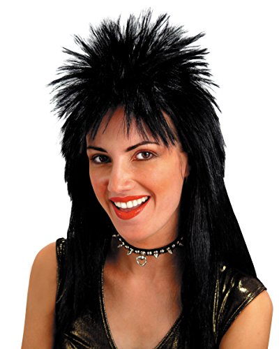 Wig with Spiked Top Sexy Shoulder Length Rock Star Look (Rock Star Costume Ideas For Women)