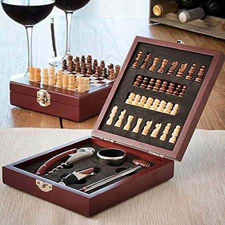Compra SHOP-STORY - Juego de Accesorios para Vino y escuadra en Caja (37 Piezas) para los Fans de Vino y ajedrez en Amazon.es