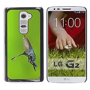 Be Good Phone Accessory // Dura Cáscara cubierta Protectora Caso Carcasa Funda de Protección para LG G2 D800 D802 D802TA D803 VS980 LS980 // bird flying wings hummingbird green